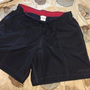 Speedo trunks size large has pockets in front back